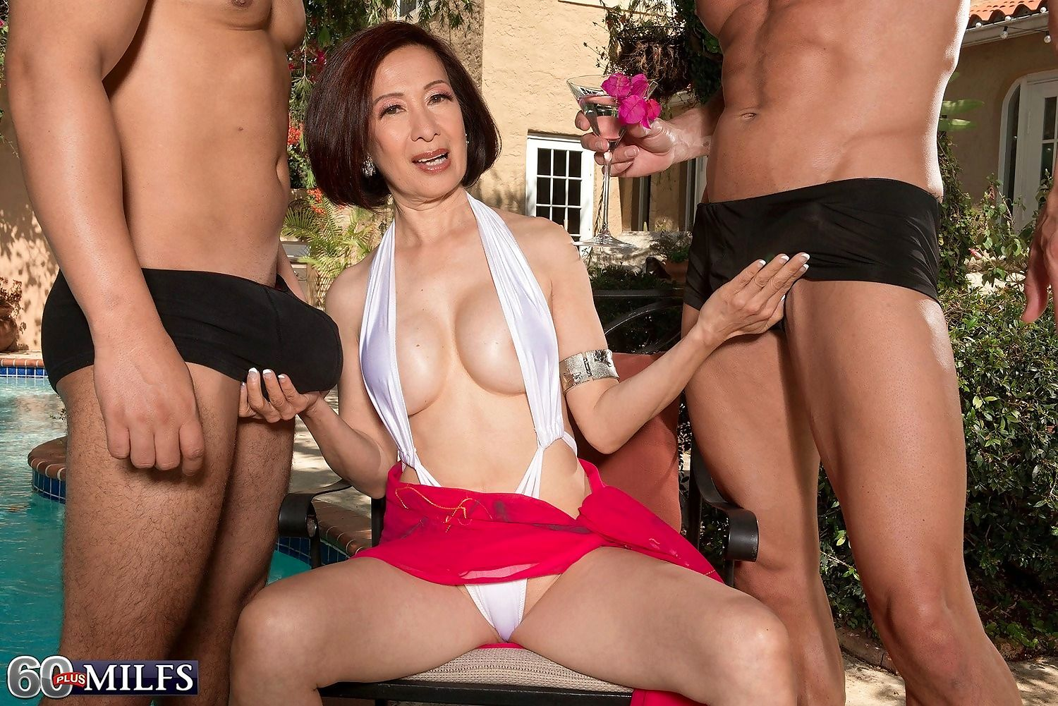 Dirty granny kim anh having two cocks poolside party - part 937