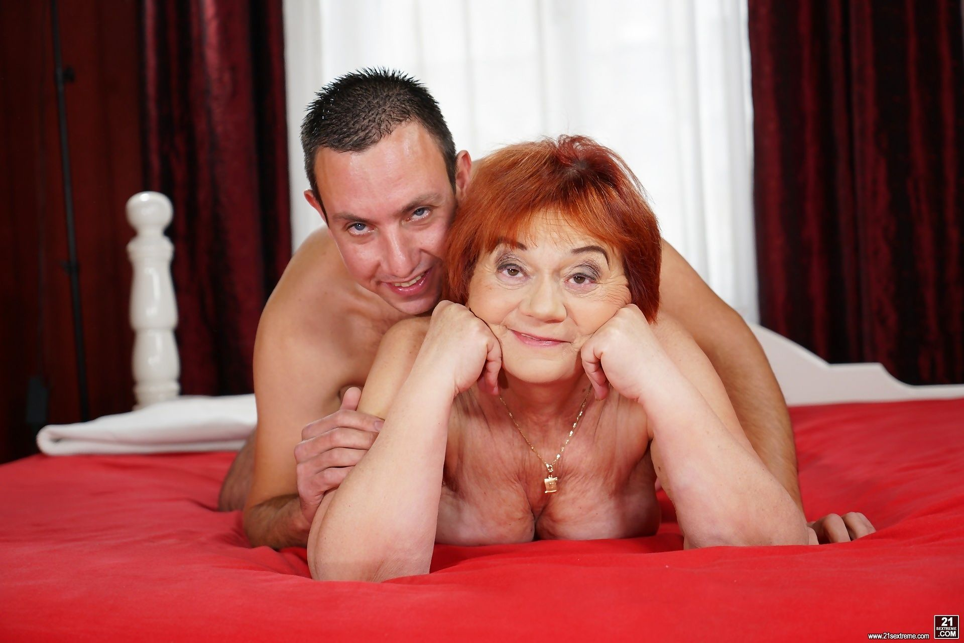 Lusty granny marsha gets all wet fantasizing about young men - part 2215