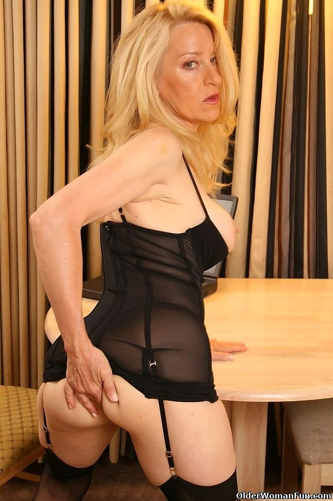 Busty mom ann wears stockings with suspenders - part 4457