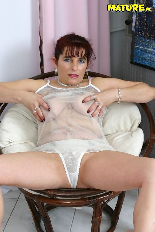 Horny mature brunette plays with a dildo and gets fucked - part 3645