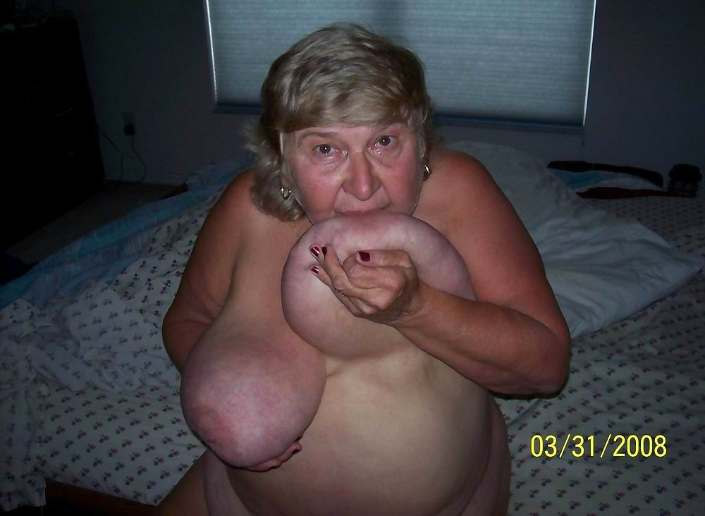 Granny with huge boobs showing off - part 3669