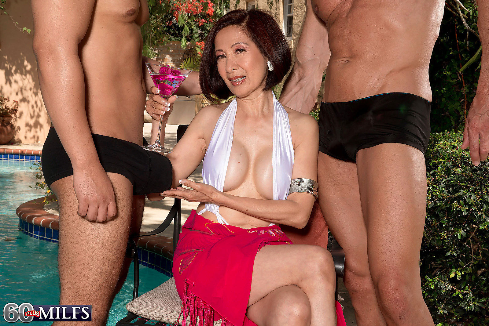 Horny asian granny milf kim anh craving two stiff cocks - part 224