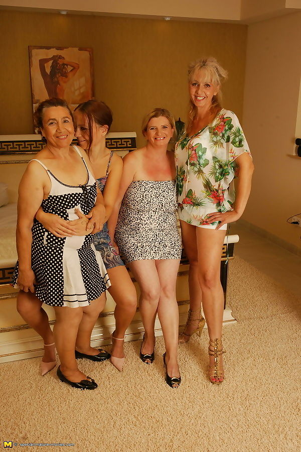 Four old and young lesbians getting wild - part 482