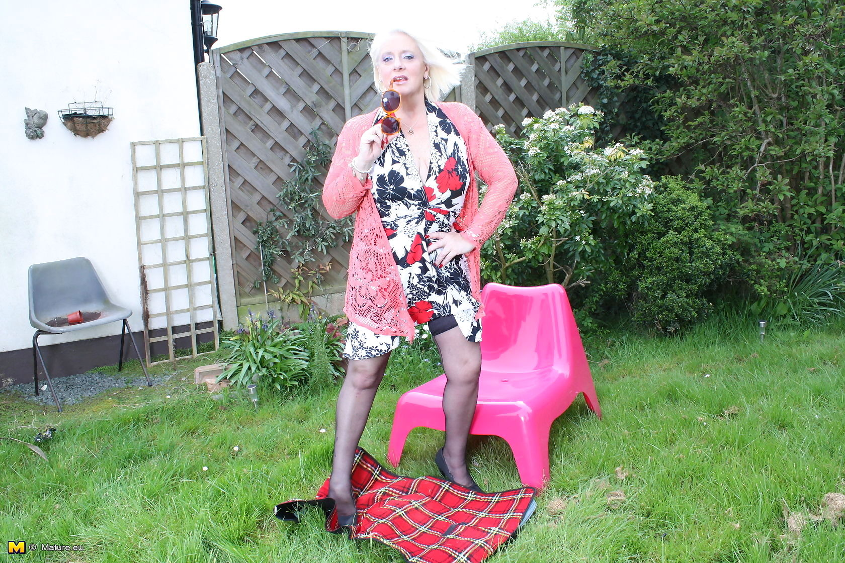 Naughty british housewife getting dirty in the garden - part 3460