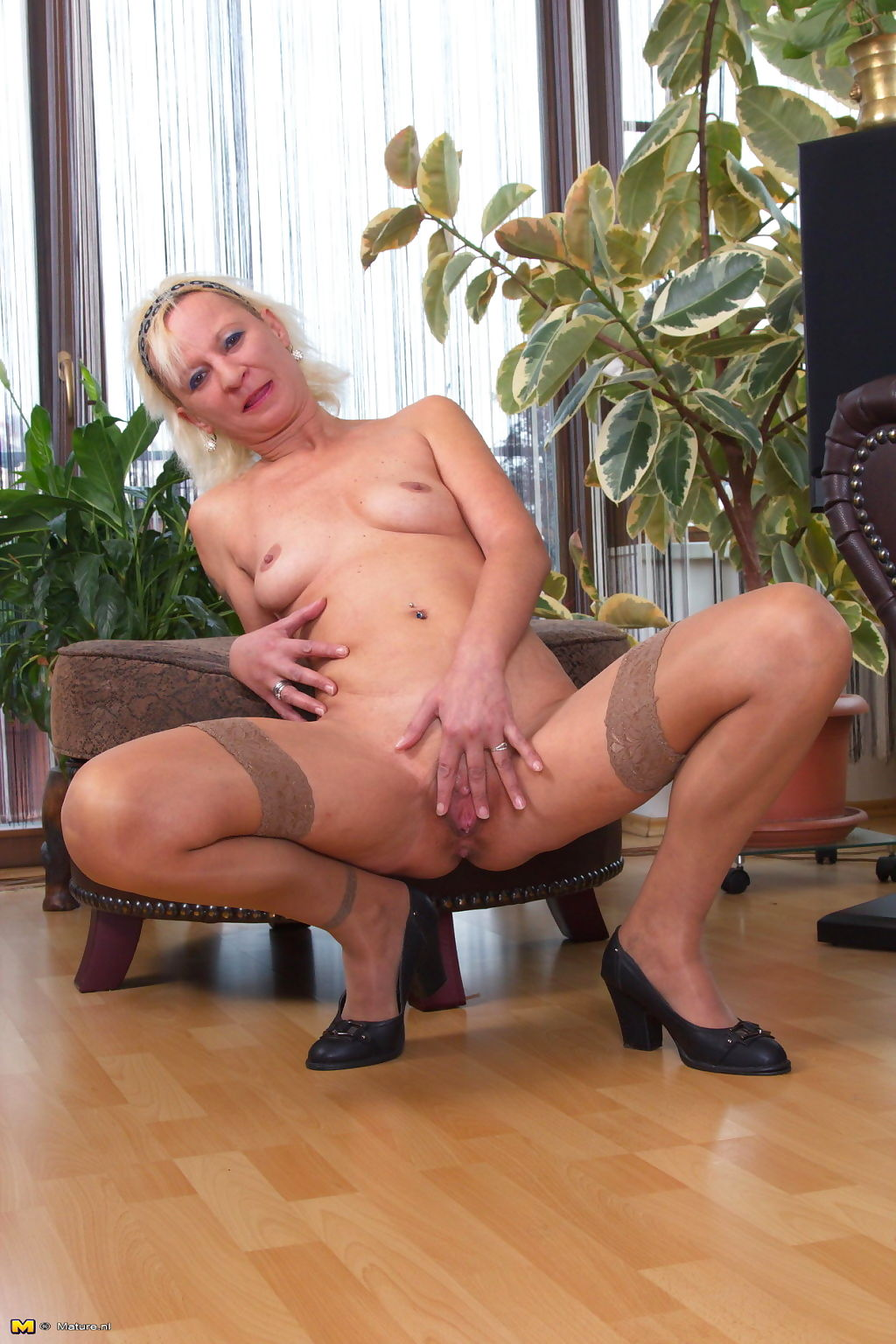 Naughty blonde housewife playing alone - part 793