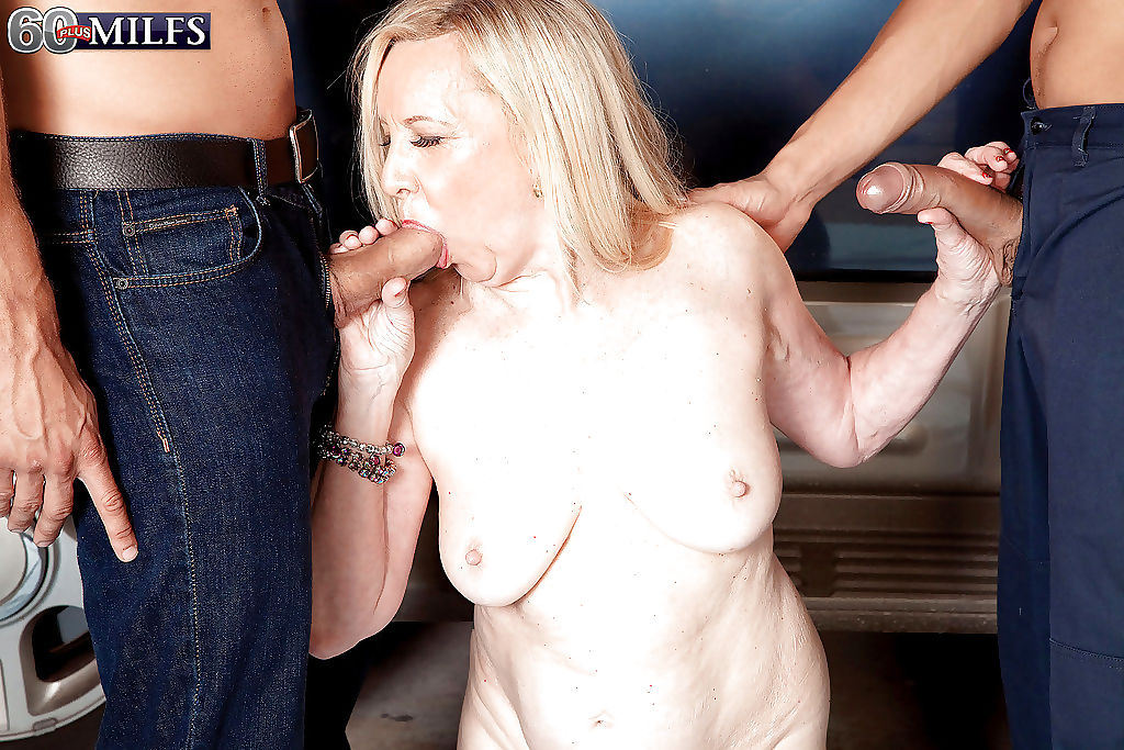 Blonde granny miranda torri banged by two mechanics in hardcore - part 146