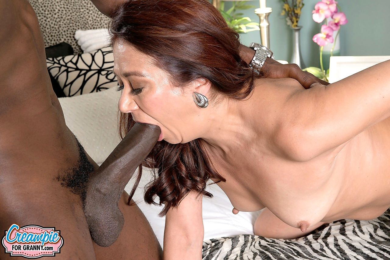 Over 50 divorcee Renee Black is left with creampie after fucking a BBC