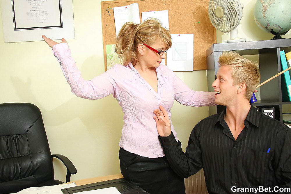 Busty granny boss having a hot office sex - part 4379