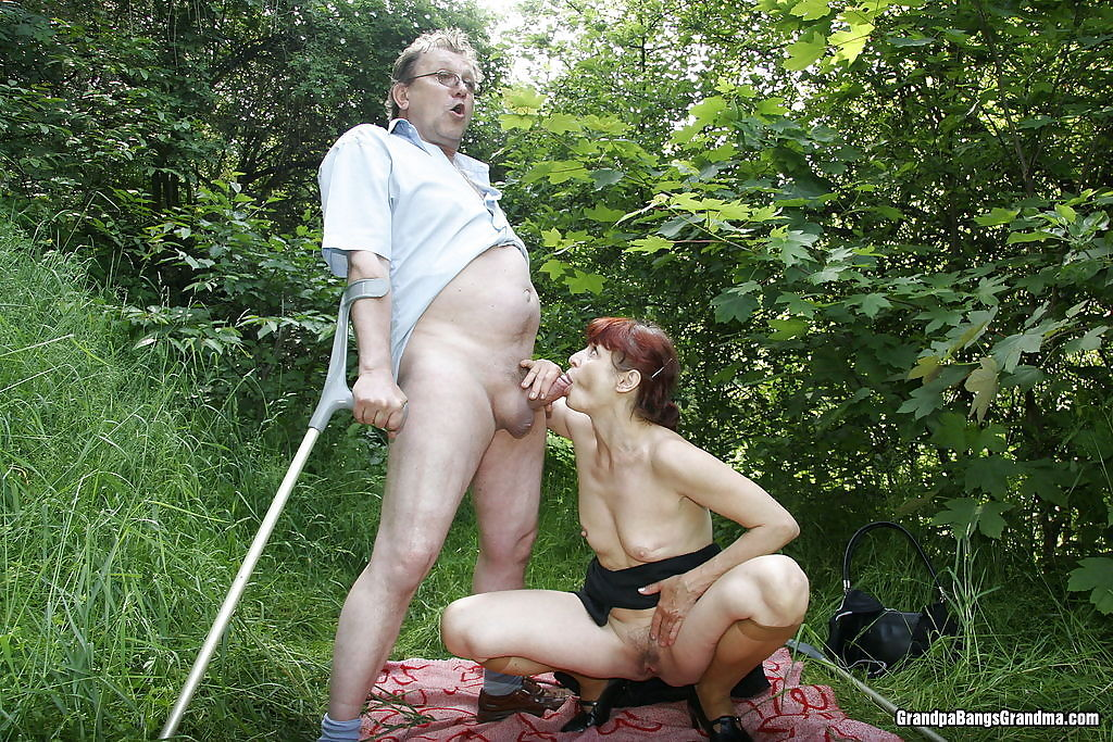 Old couple fucked wild outdoor - part 5101