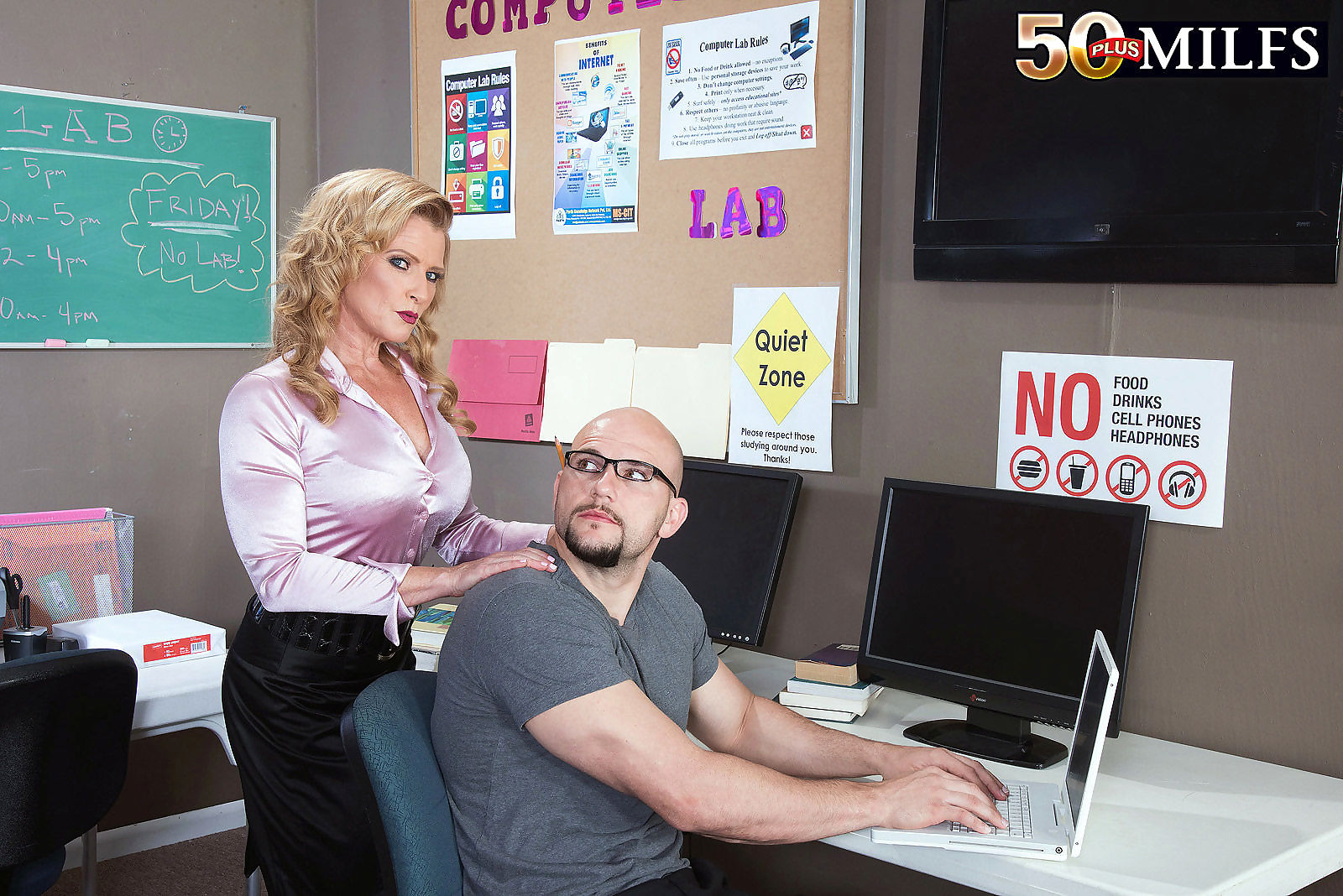 Its an awesome office threesome for 51 year old amanda verhooks - part 1659