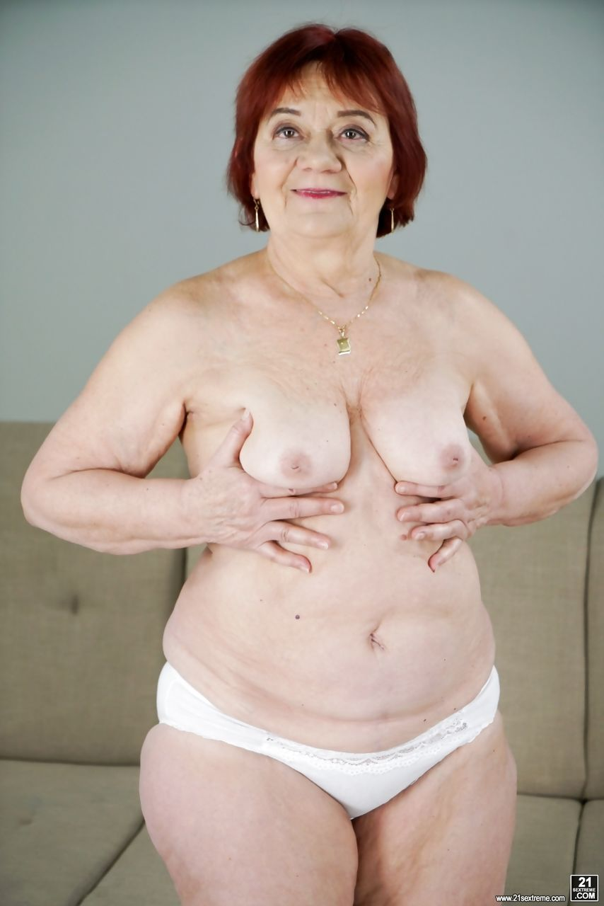 Redhead granny Marsha having passionate sex with a horny stud