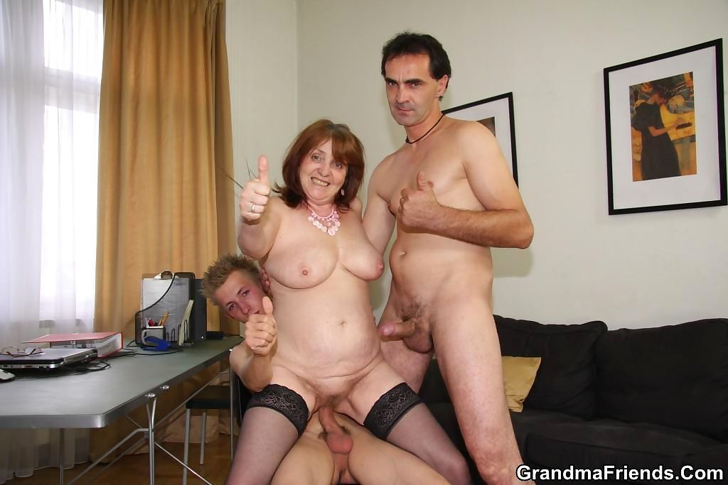 She gives into their aggressive charms and she lets them fuck her mature pussy - part 926