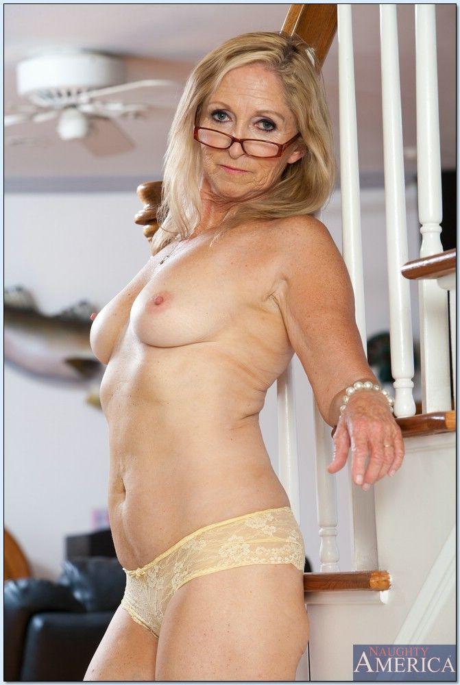 Wrinkled yet sexy and flexy granny Annabelle Brady stripping - part 2
