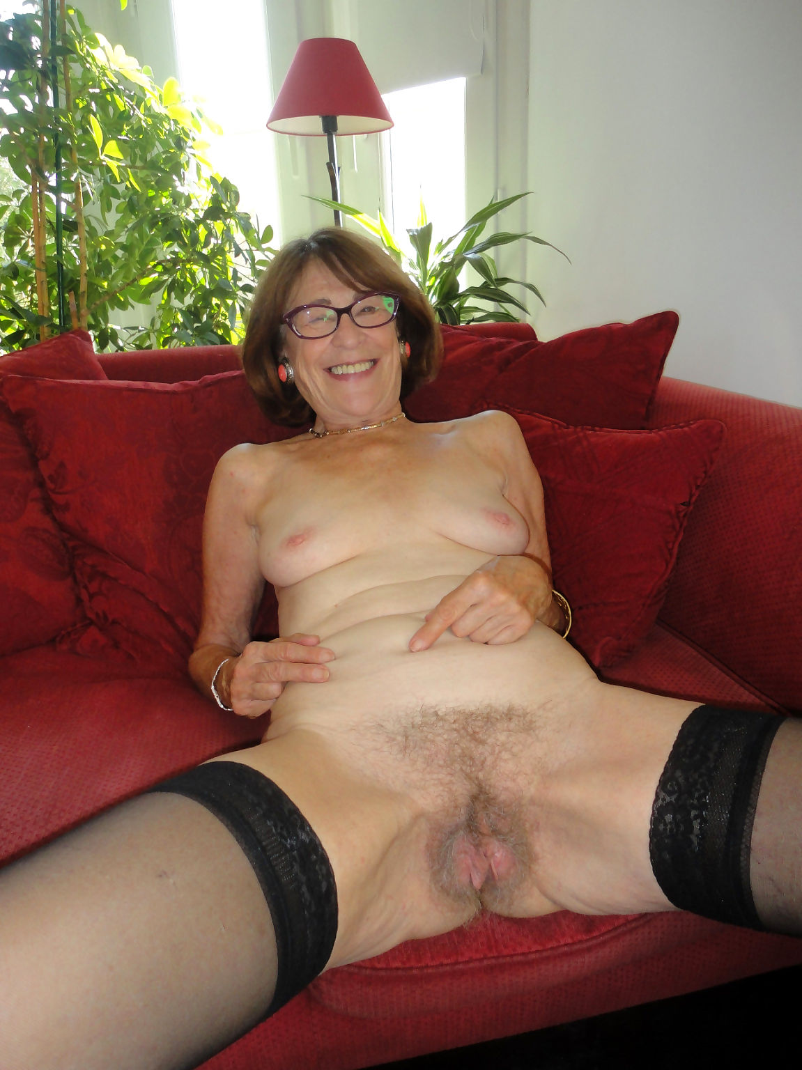 Nasty granny showing her pink - part 613