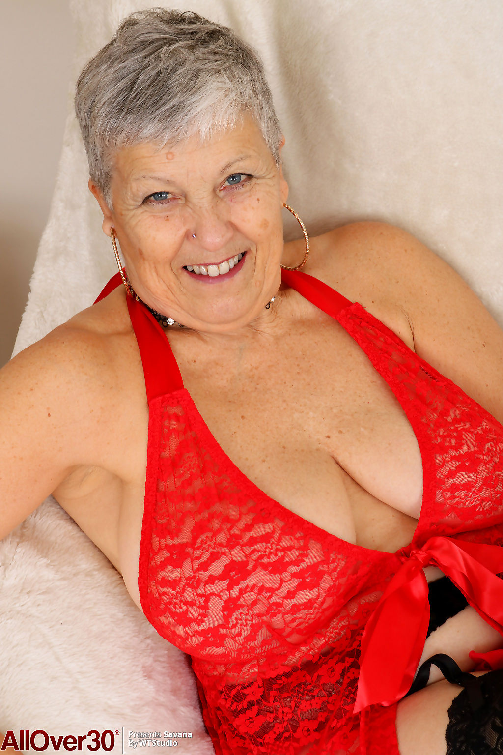 Granny savana takes off her lingerie - part 2844