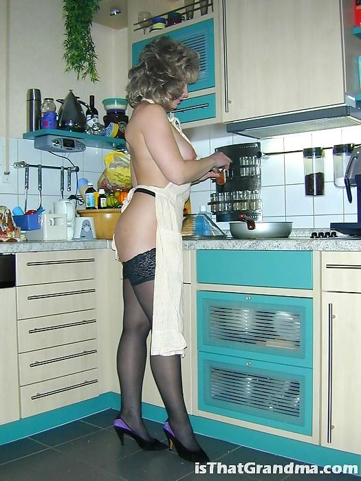 Grandma naked cooking - part 3498
