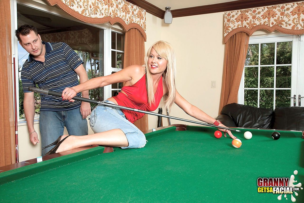 Playing pool with Jenny Hamilton leads to some hardcore shagging