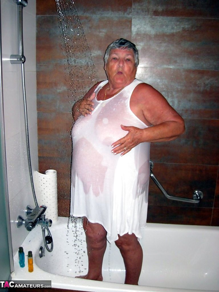 Shower time again for grandma libby - part 3853