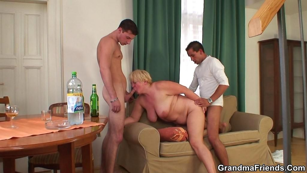 The hot grandma gets drunk and then goes home with the guys for really great har - part 2676