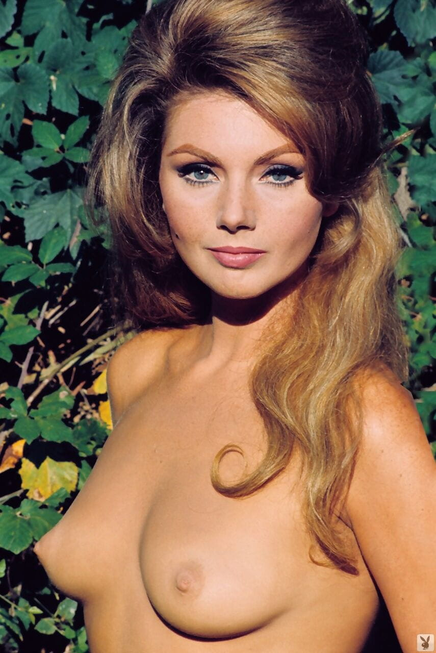 Vintage Playboy models reveal their gorgeous natural knockers and pose