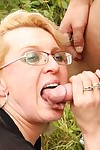 Busty old grandma having a two big cocks to fuck - part 4490