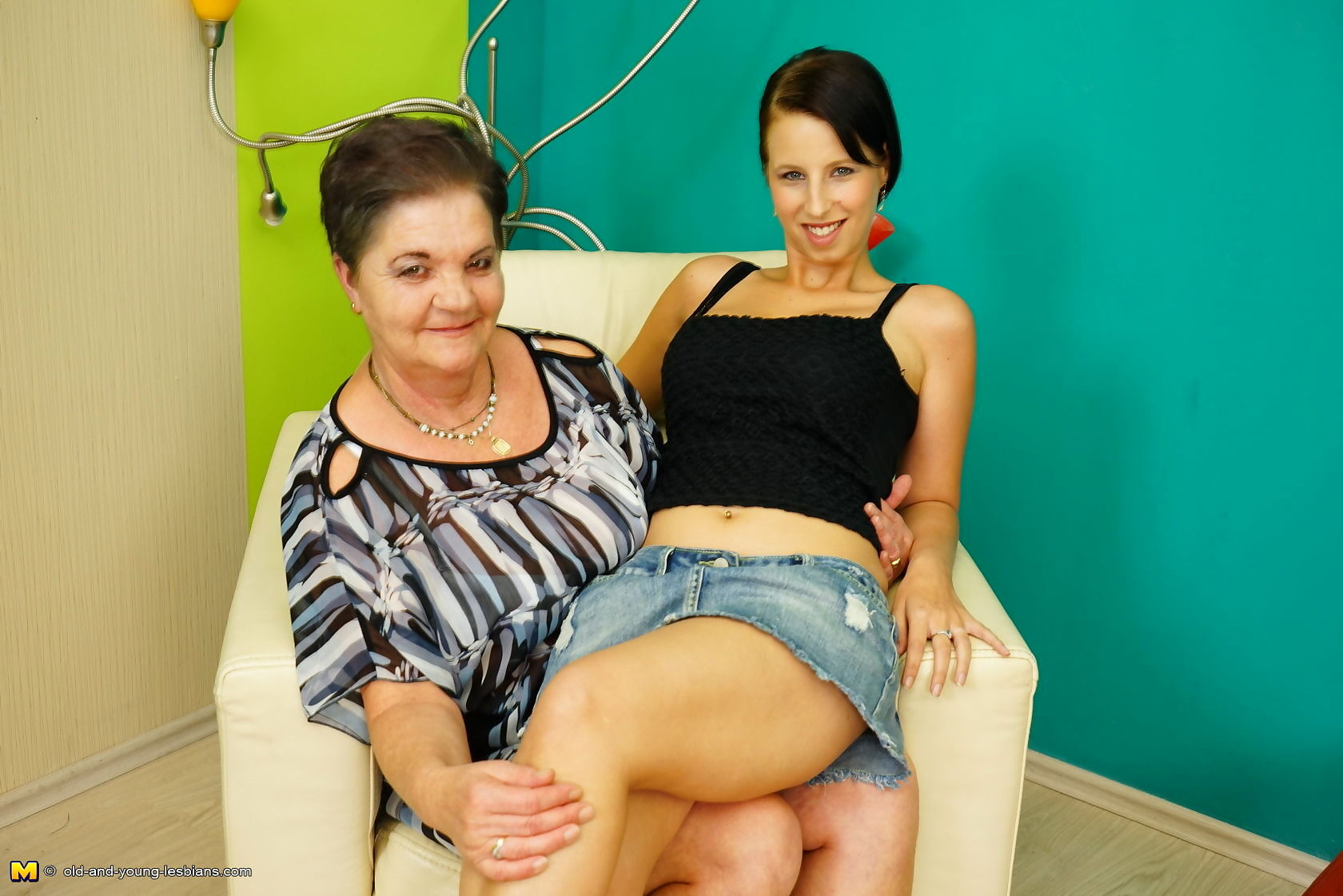 Horny old and young lesbian couple fooling around - part 3503