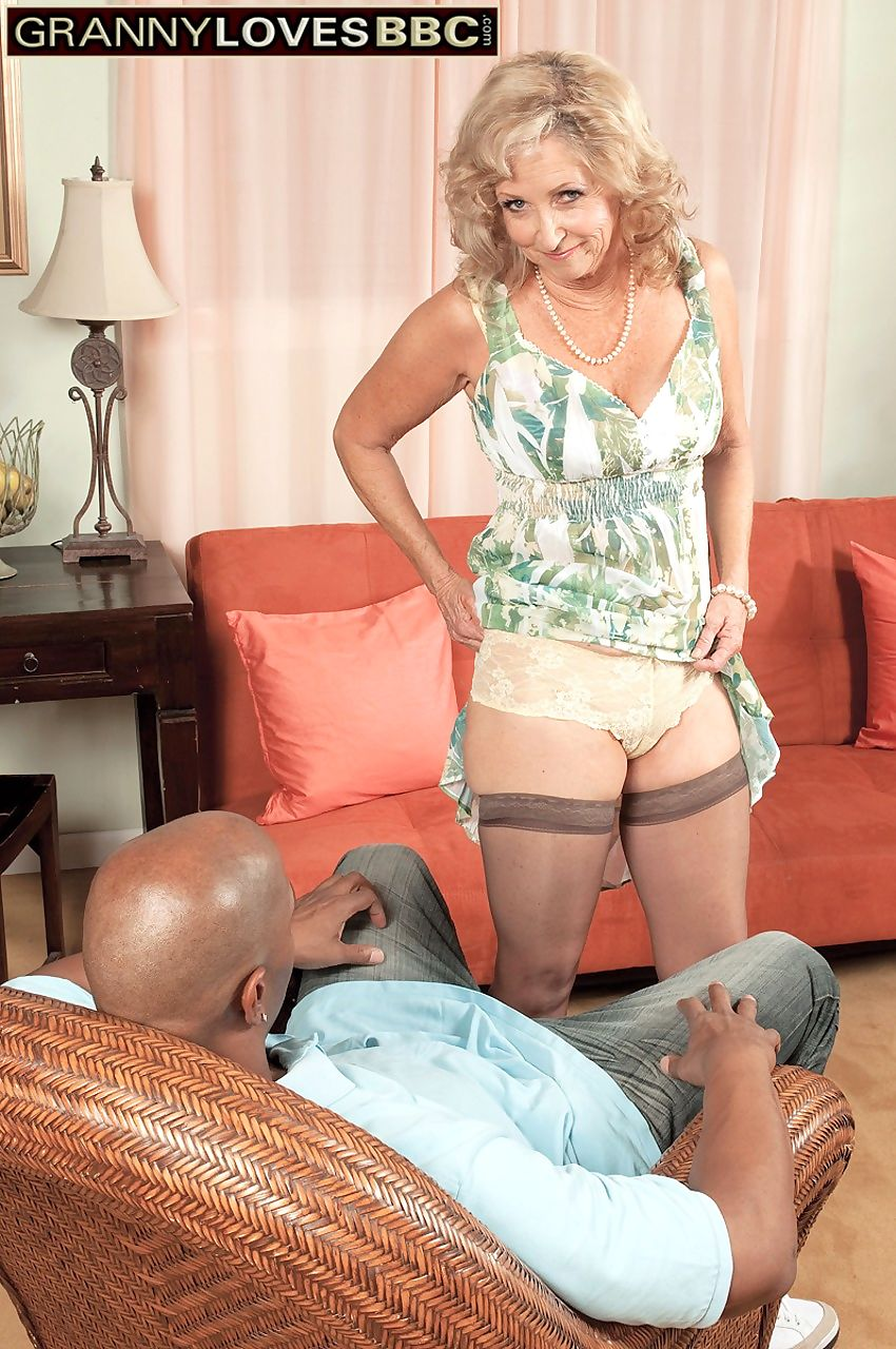 Horny old woman Connie McCoy takes a large black dick up her asshole