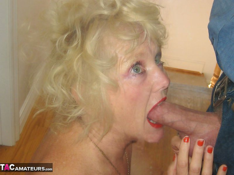 Blonde Granny Pov Blowjob